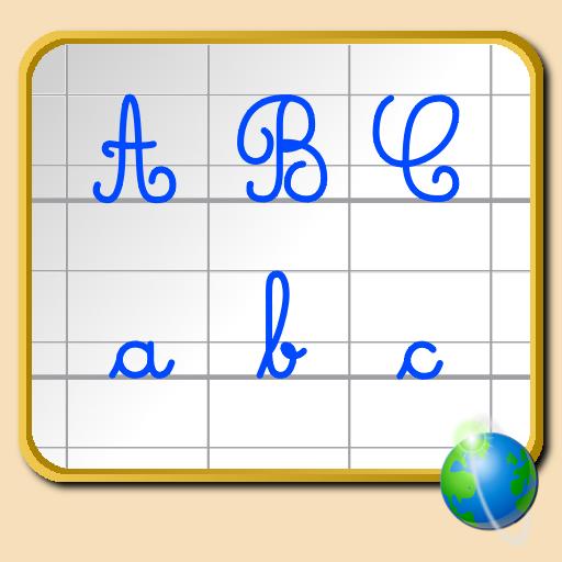 Alphabet cursif pour iPhone